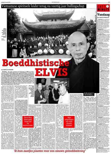 Telegraaf Beertje van Beers Boeddhistische Elvis