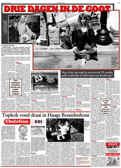 Beertje van Beers Telegraaf Drie dagen in de goot