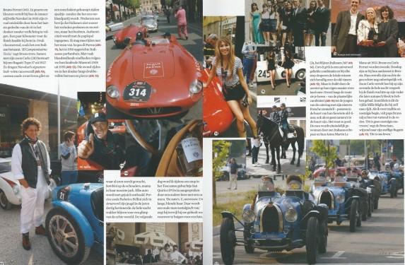 Beertje van Beers, article Mille Miglia for Esquire