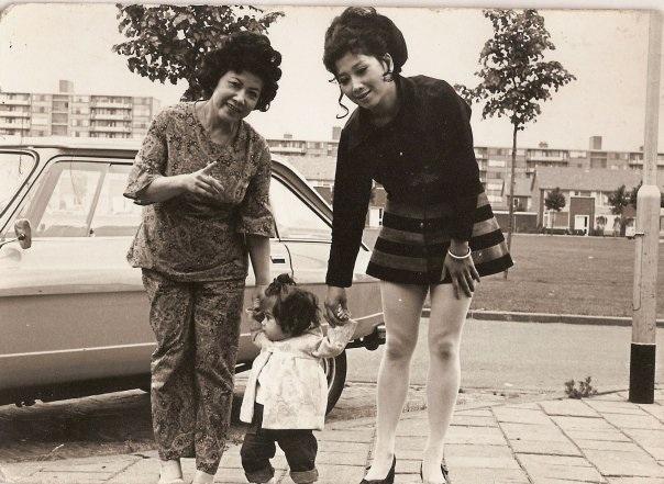 Beertje van Beers, her mother and grandmother in Breda, 1973